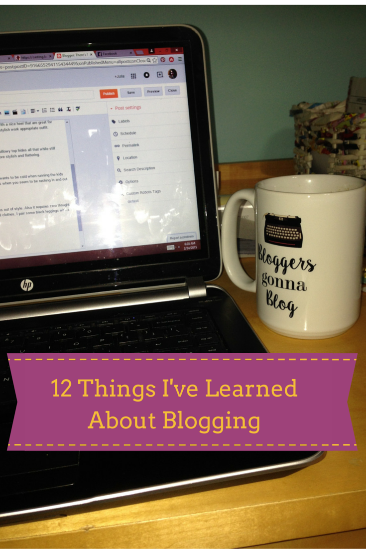 Learned from blogging