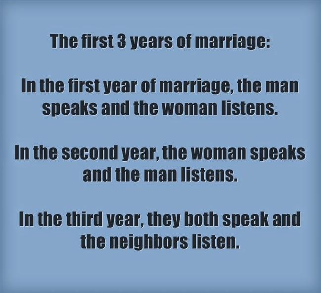 Ba năm đầu tiên sau khi đám cưới