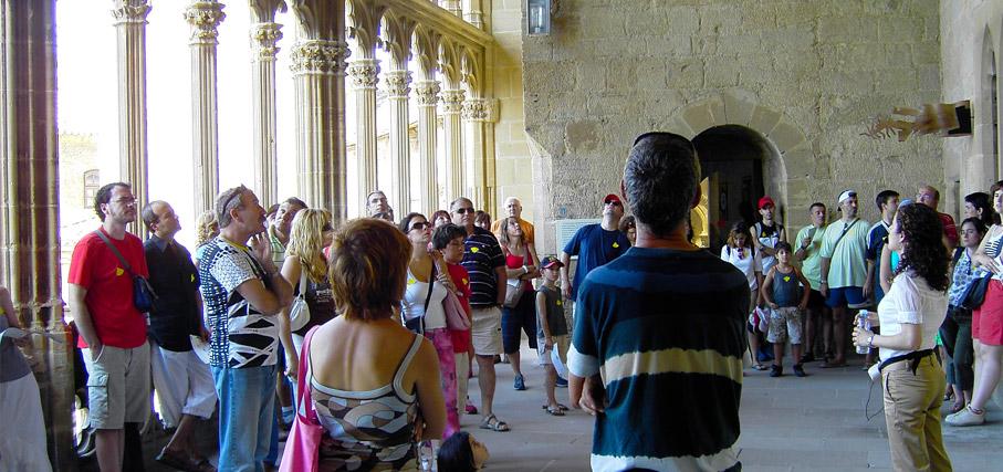 visita guiada grupos castillo de olite