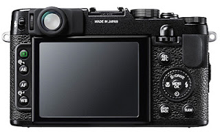Rear view of the Fuji X10 camera. Photo courtesy of Fujifilm.com