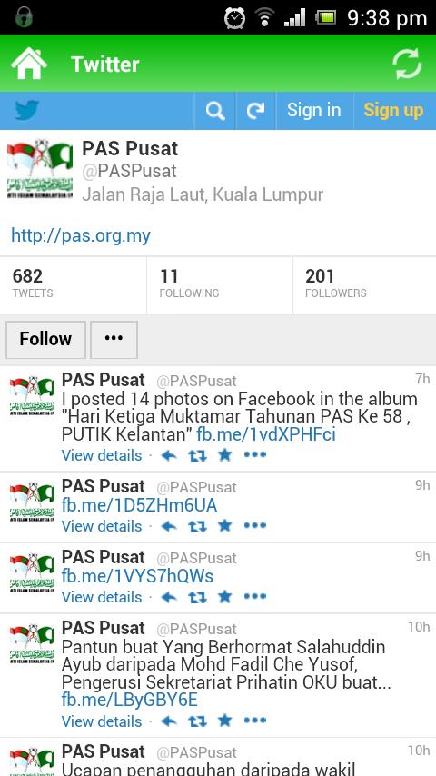 12 Twitter PAS PAS Lancar Aplikasi Android Touch `n Get (TnG)