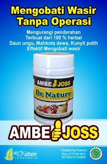 Ambejoss denature amph obati ambeien atau wasir Ambe Joss