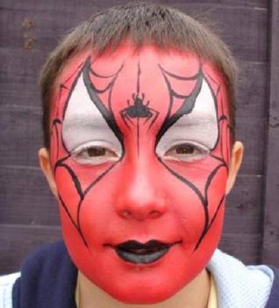 MuyVariado.com: Cómo hacer Caritas Pintadas, Diseño Hombre Araña ...