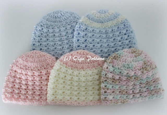 Crochet Hat Pattern For Premature Baby : Lacy Crochet: Preemie Baby Crochet Hats