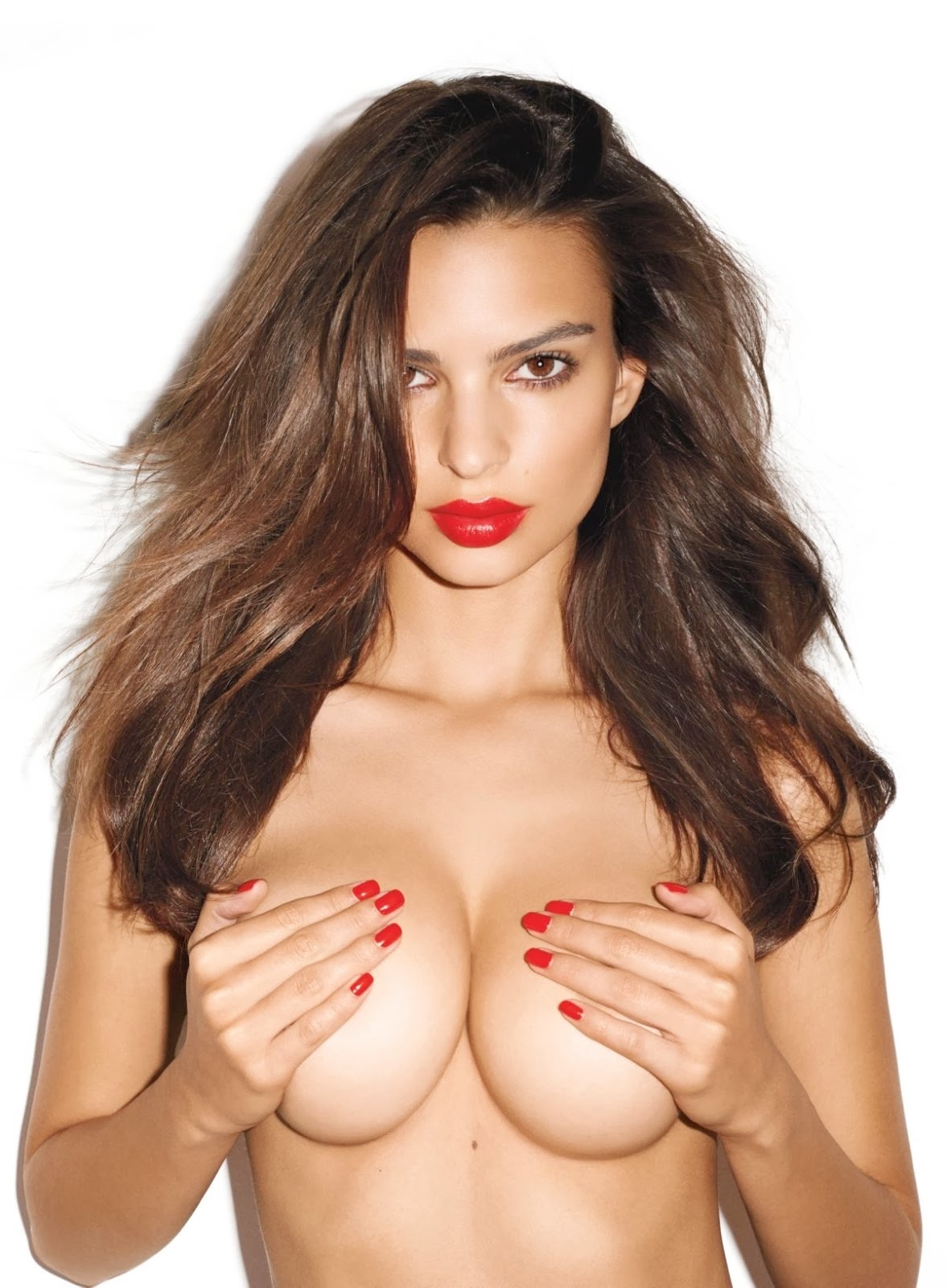 Emily Ratajkowski Topless But Covered Photoshoot By Terry Richardson