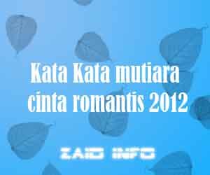 Kata mutiara cinta romantis 2012
