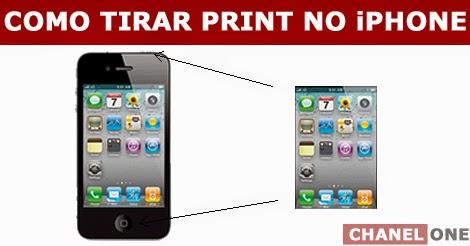 como tirar foto da tela do iphone