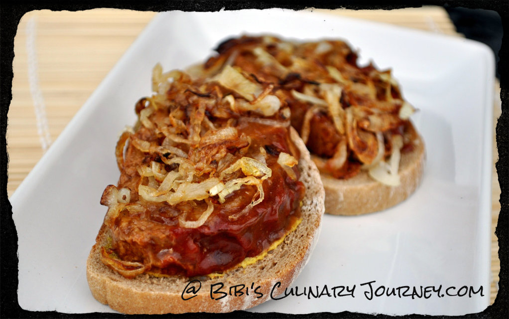 Meatloaf Sandwich with Caramelized Onions