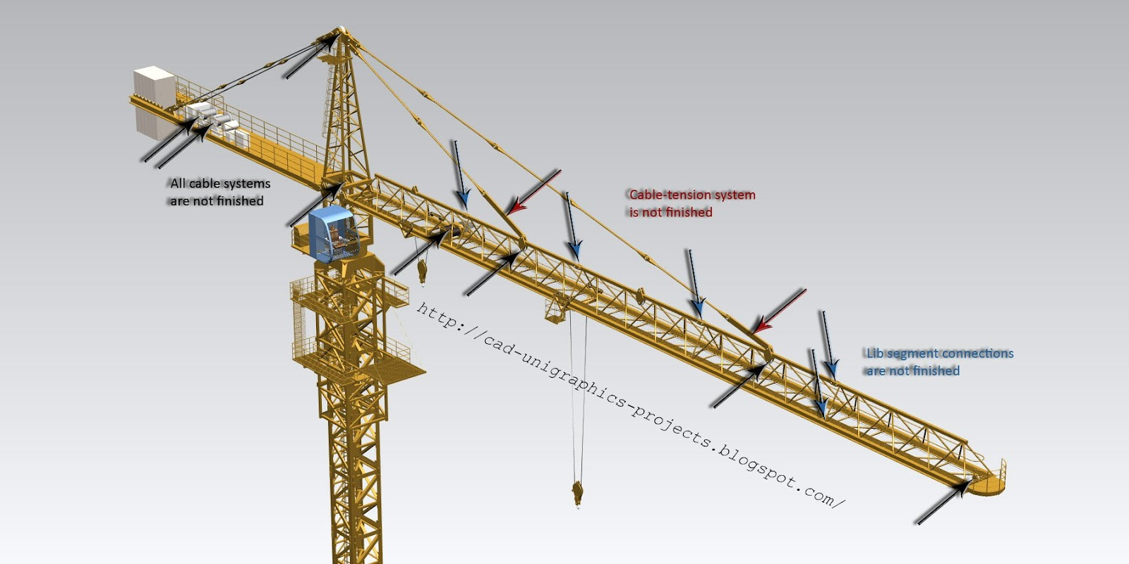 Tower Crane Design Calculations : Cad designs by ivan tower crane d model