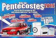 COLABORE COM A FESTA DE PENTECOSTES 2011 E COM OS SETORES PASTORAIS
