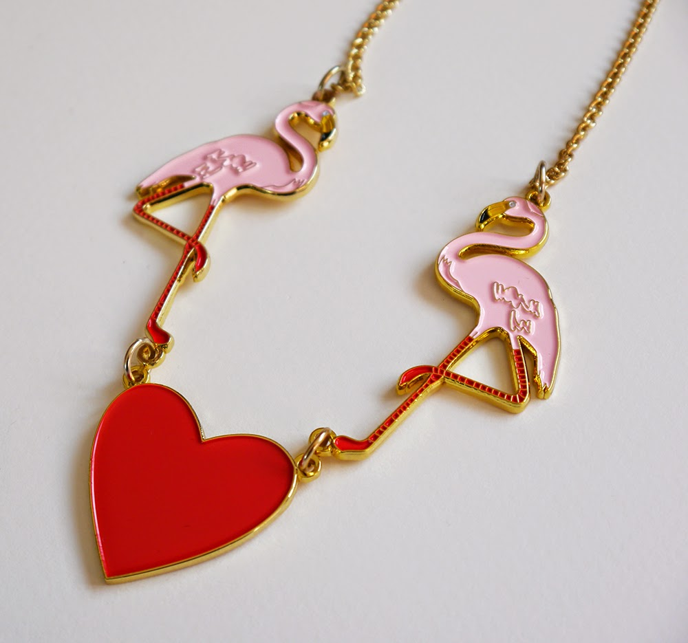 Karen Mabon jewellery, flamingo jewellery, flamingo necklace, pink flamingo