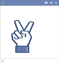 Peace Fingers Emoticon For Facebook Chat
