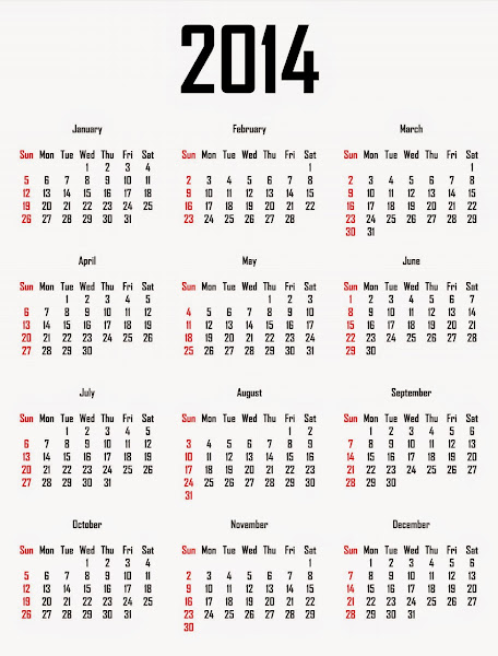 December 2014 Calendar Printable Australia