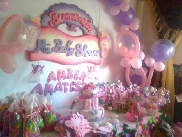 Decoraciones para fiestas baby shower for Fiesta baby shower decoracion
