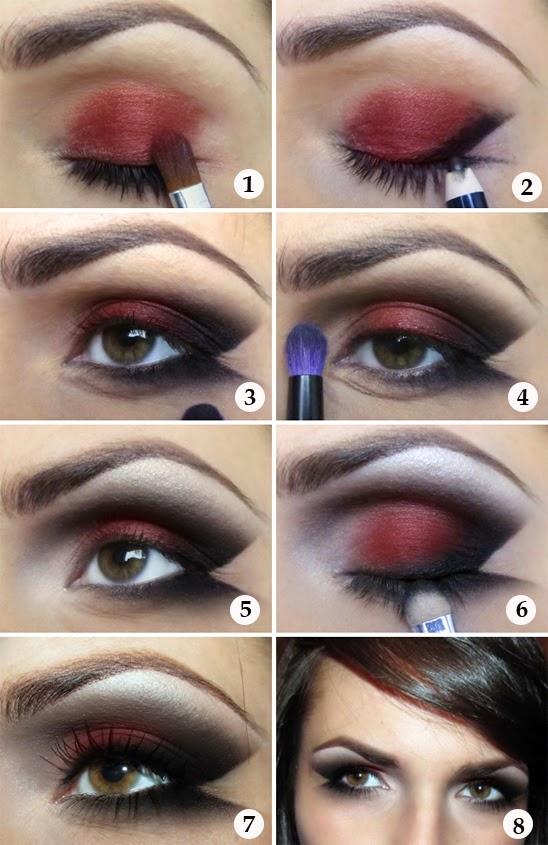 Alluring Red Black Eyeshadow Tutorial She9 Facebook