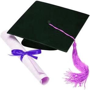 imagen de birrete y diploma de graduación