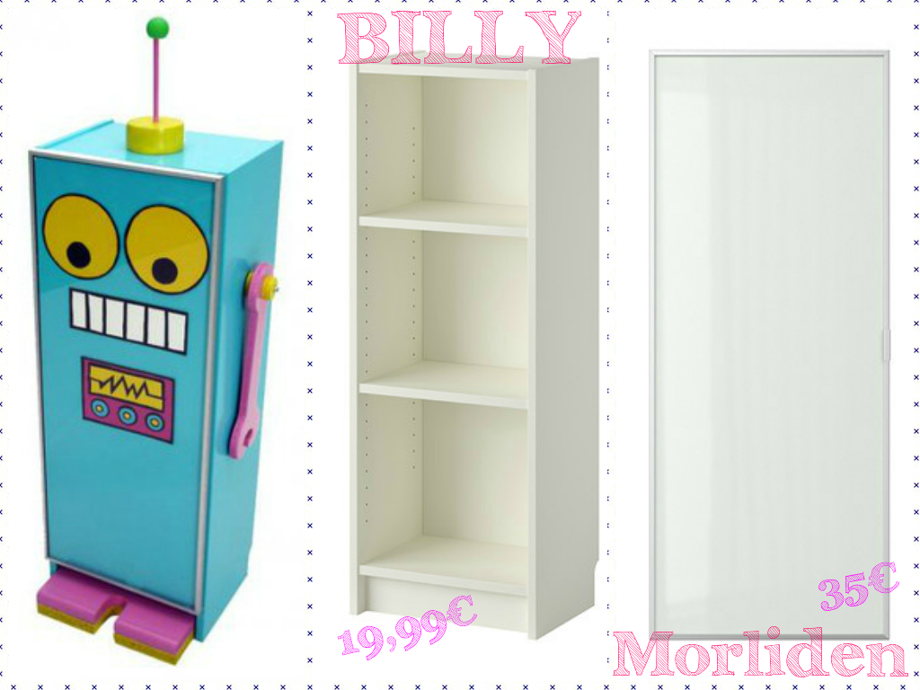 IKEA HACK ROBOT ESTANTERIA BILLY