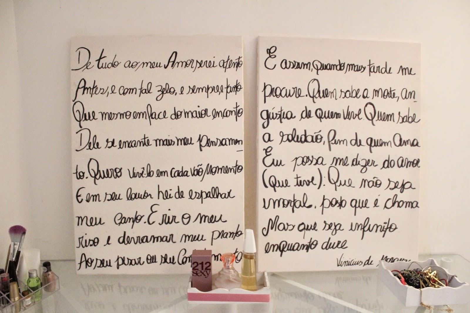 Telas de pintura escritas manualmente, decoração do quarto, telas cabeceira de cama de casal