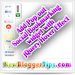 How to Add Pop Out Social Bookmarking Widget with Smooth Jquery Hover Effect