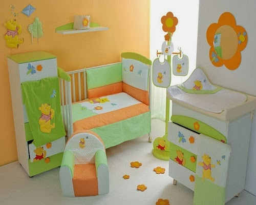 Decoration chambre b b winnie l 39 ourson b b et for Deco ourson chambre bebe