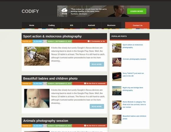 Codify – Free Blogger Templates 2013