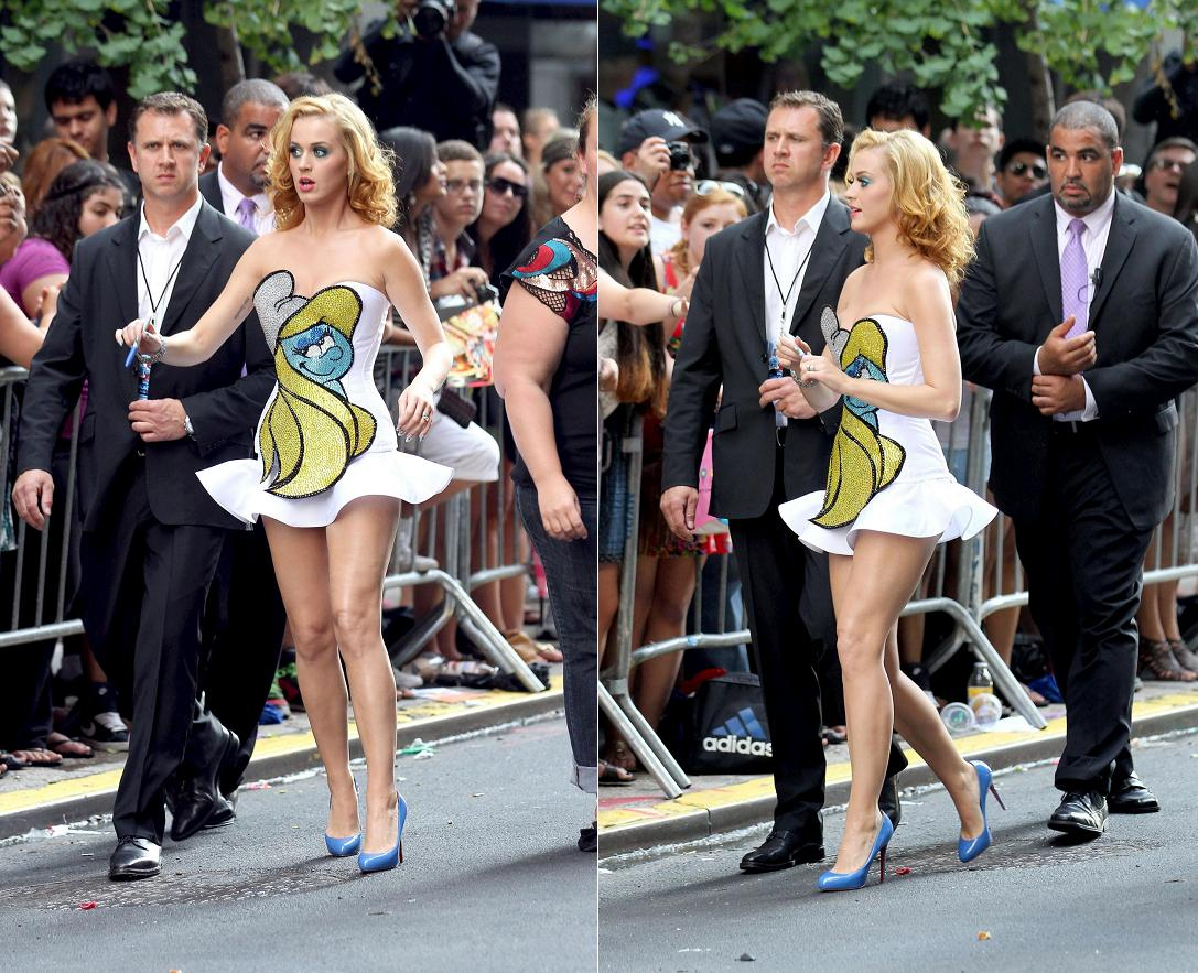 Smurfs World Premiere Katy Perry and other stars at Smurfs Premiere