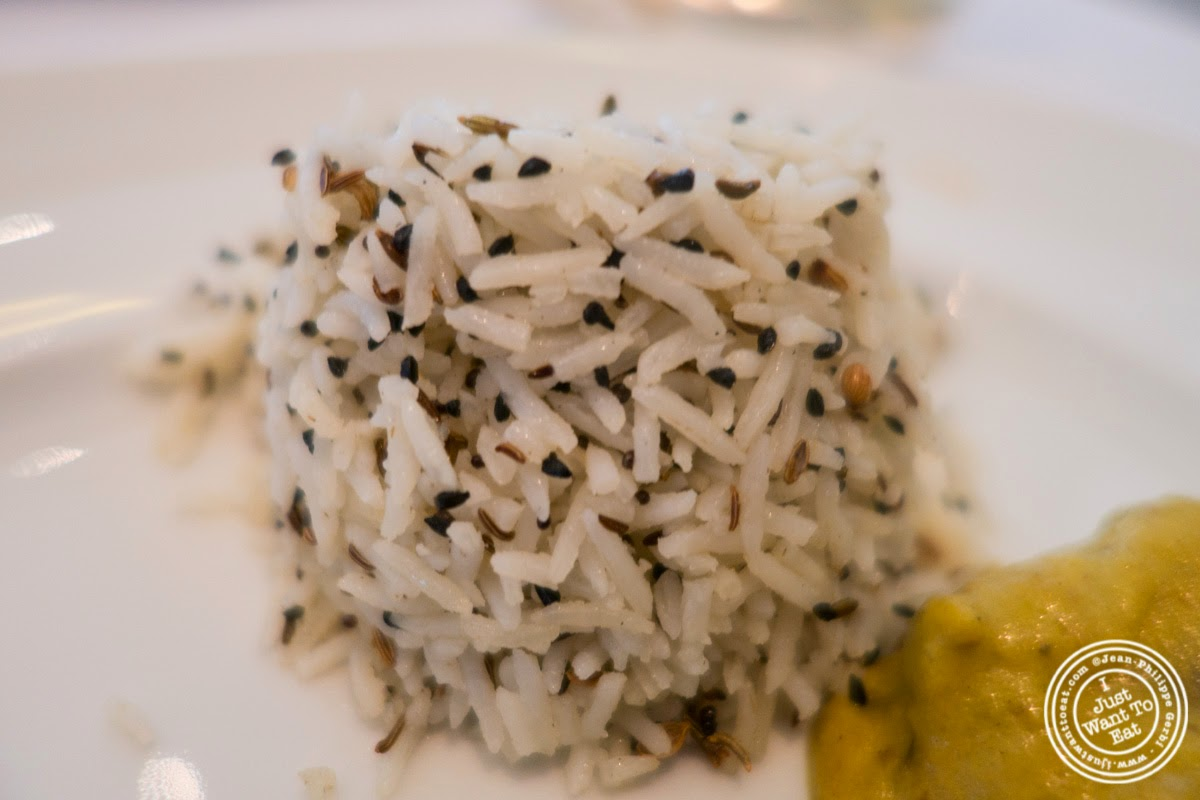 image of Five spices rice at Tamarind, Indian cuisine, in Tribeca, NYC, New York
