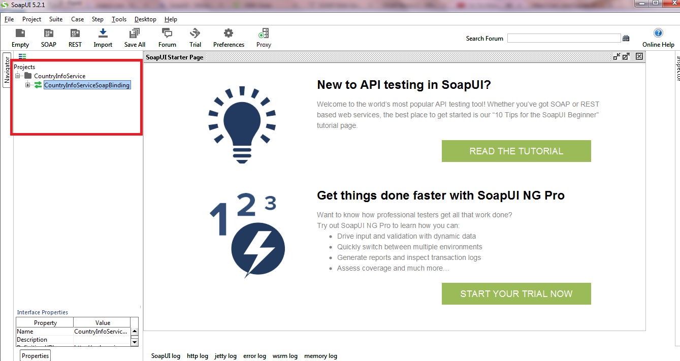 How to use soap ui for testing web service getting into liferay step 4 newly created soap project will be shown in soapui tool baditri Images