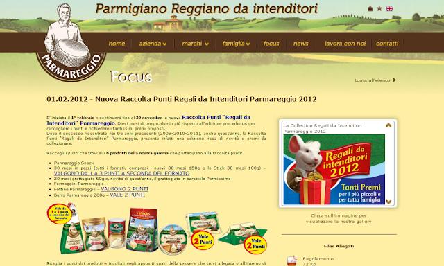 Raccolta punti Parmareggio 2012