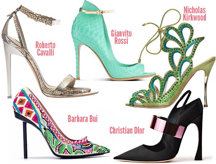 Модные туфли сезона весна-лето 2013 - это, прежде всего, яркие туфли с фантазийным декором и смелым дизайном