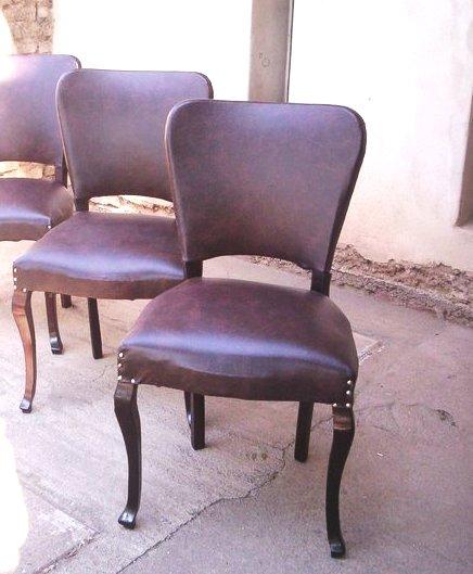Reciclado de sillas y sillones dos sillas de comedor for Reciclado de sillones