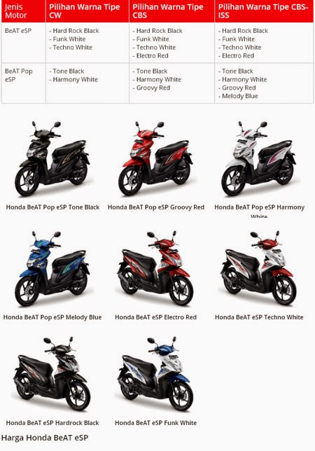 Pilihan Warna Honda BeAT eSP & POP eSP
