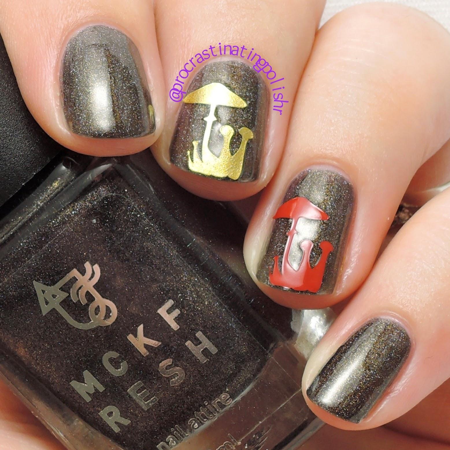 Mckfresh Shrooms vinyl nail decals