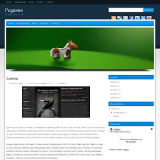 Pegasus Blogger Template