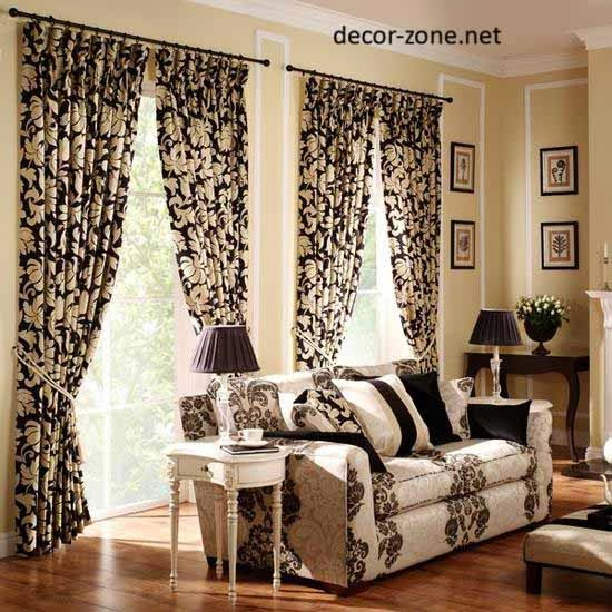 living room window curtains