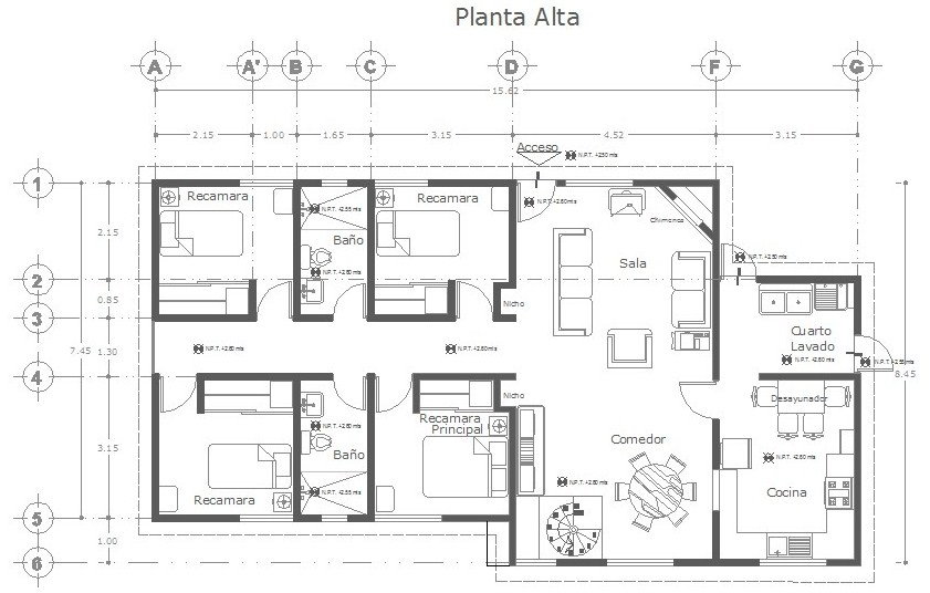 dibujo de planos arquitectonicos en revit architecture y