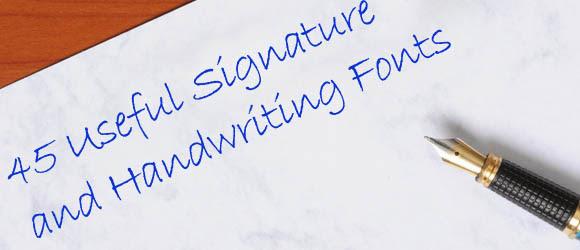 handwriting signatures hand writing