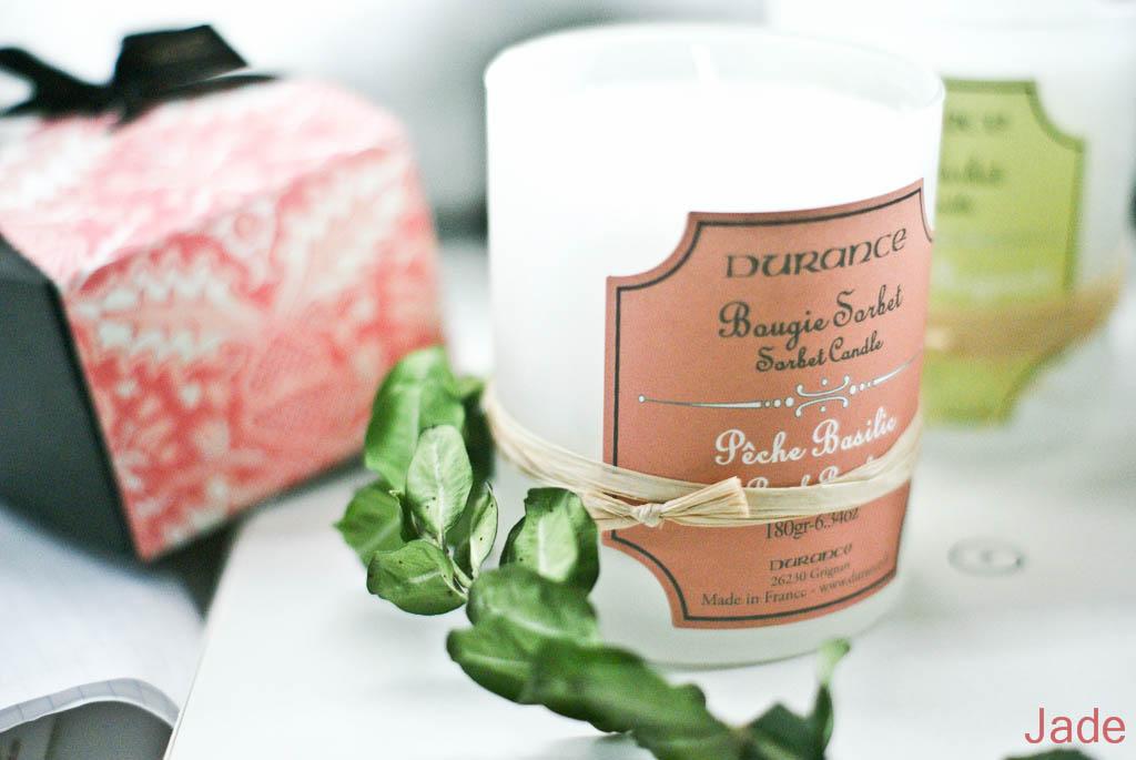 jade from paris les bougies sorbets de durance. Black Bedroom Furniture Sets. Home Design Ideas