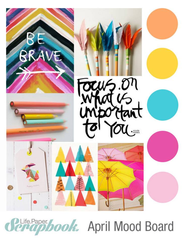 Magical Messes April Mood Board With Life Paper Scrapbook
