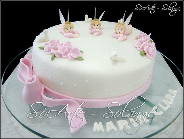Baño Sencillo Para Tortas:Decoracion De Pasteles Para Bautizo