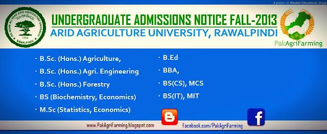 UAAR Undergraduate Admissions Fall-2013 Notice