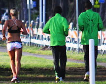 Bree Wee Running With Kenyans