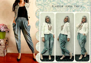 bahan jeans fit to L