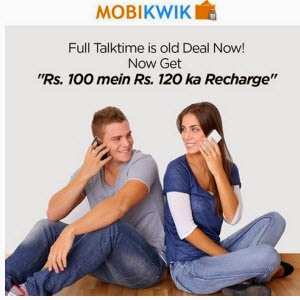 Mobikwik iOS app : Recharge & Bill Payment of Rs.100 for Rs 50.