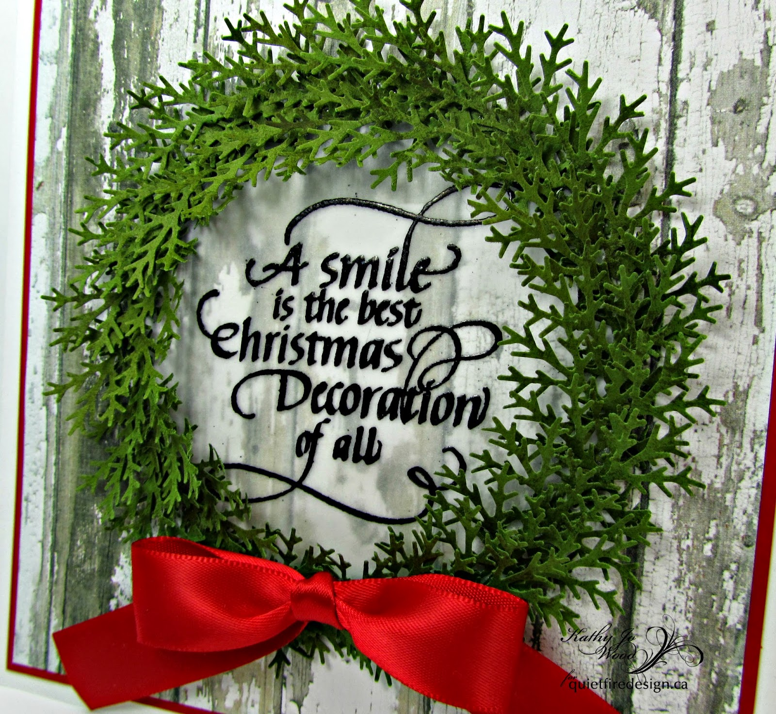 christmas, card, wreath, a smile is the best, my mind's eye, martha stewart, distress stain, vellum