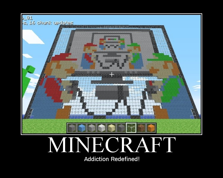 Minecraft demotivational posters collection