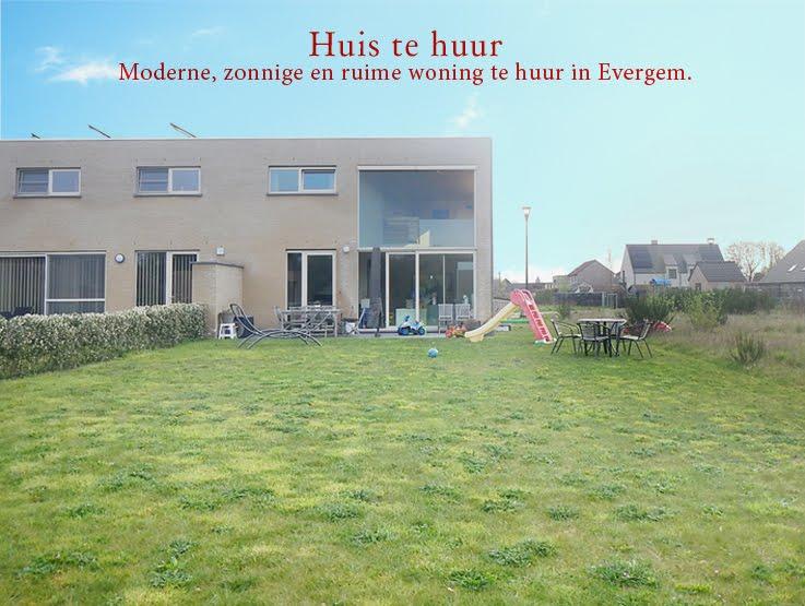 Mooie zonnige en ruime woning te huur in evergem for Eigen huis en tuin huis te koop