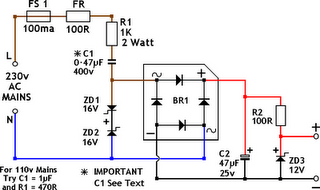 Power supply without transformers Circuit