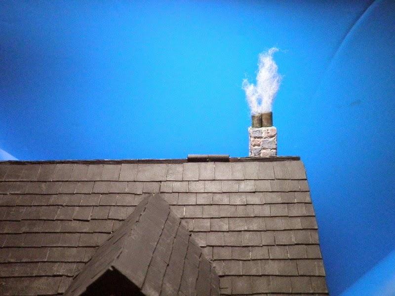1 12 casa de mu ecas 11 tejado pincel y masilla - Como construir un tejado ...