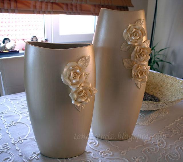 dekoratif boyama vazo